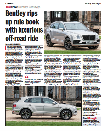 Motors North Article 1 Broomhall Bentley Bantayga