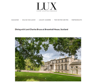 Lux Magazine, Summer 2017, Broomhall