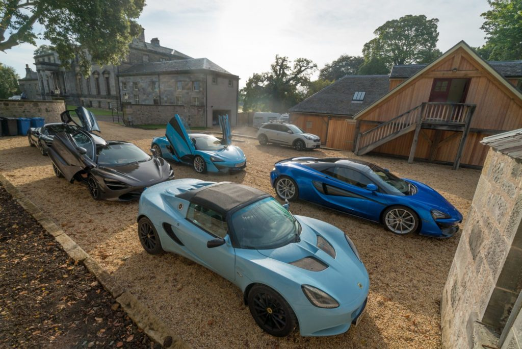 September event for McLaren Automotive at Broomhall House