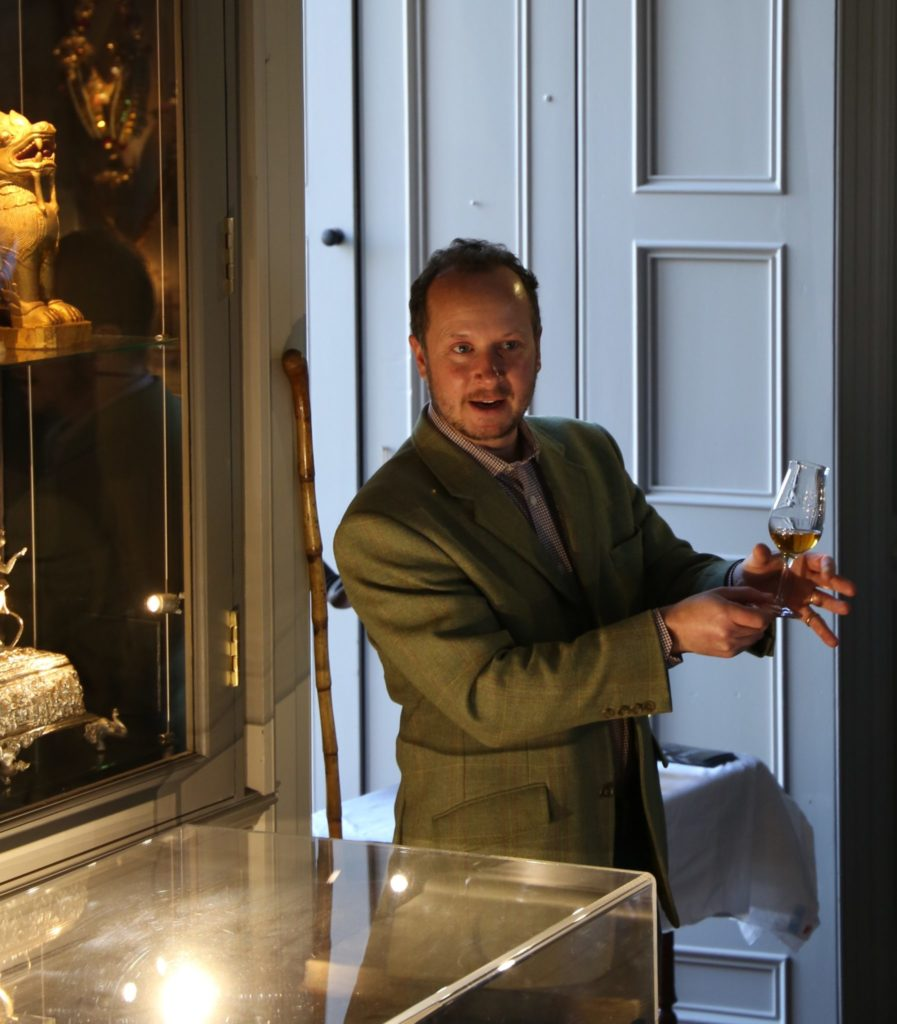 Alex Bruce whisky tasting at Broomhall House