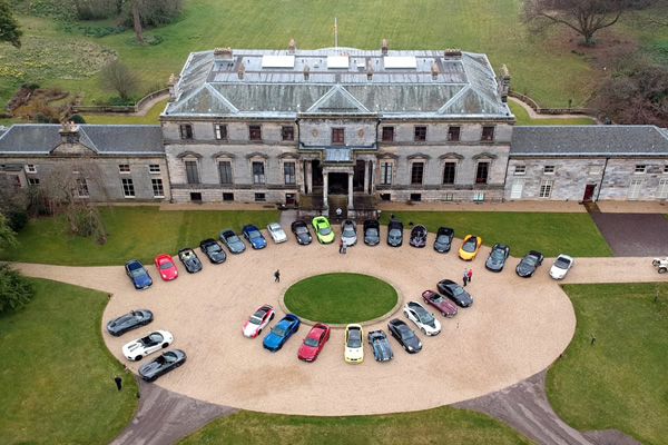 Driving Scotland visit Broomhall House with thirty supercars