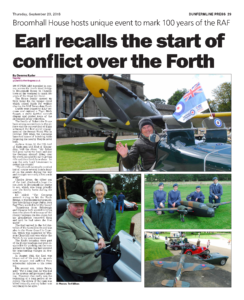 News article with n4 pictures of people and and aeroplane