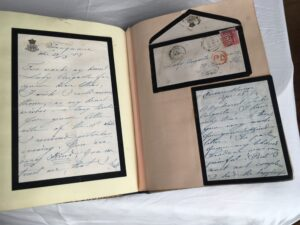 written letters compiled in a book