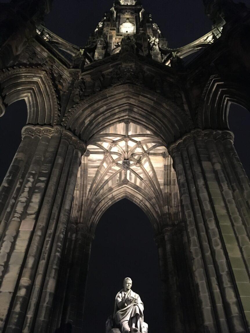 statue inside monument